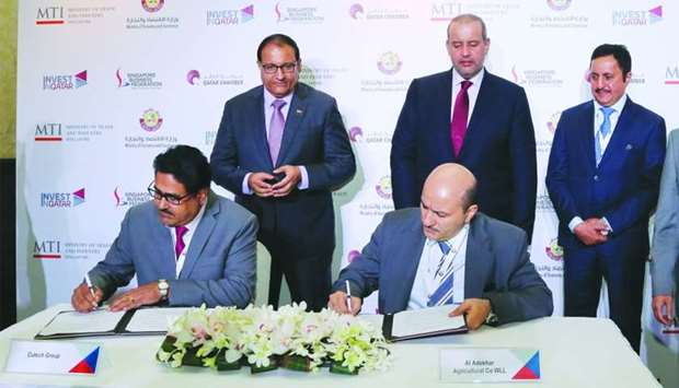 Qatar, Singapore sign four MoUs to enhance bilateral trade