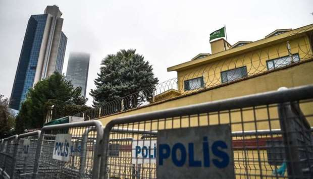 A view of the Saudi Arabian consulate in Istanbul