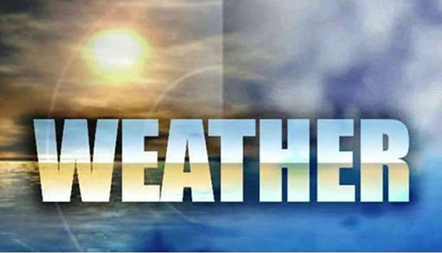 Weather inshore until 6pm on Wednesday will be relatively hot daytime with slightly dusty at places