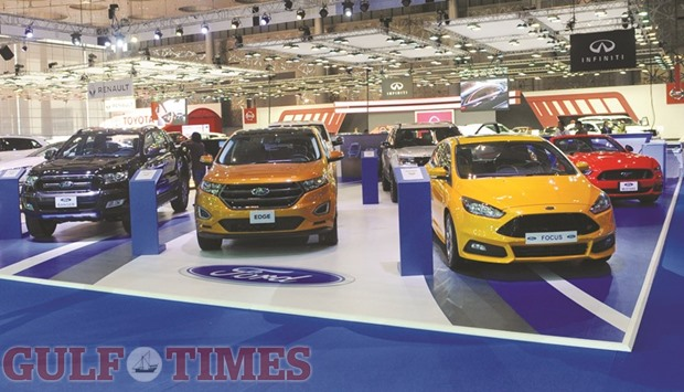 A Range Of Ford Vehicles Displayed At The Qatar Motor Show  Yesterday Picture Shemeer Rasheed