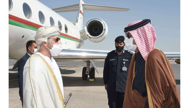 The arrival of the Omani Minister of Interior