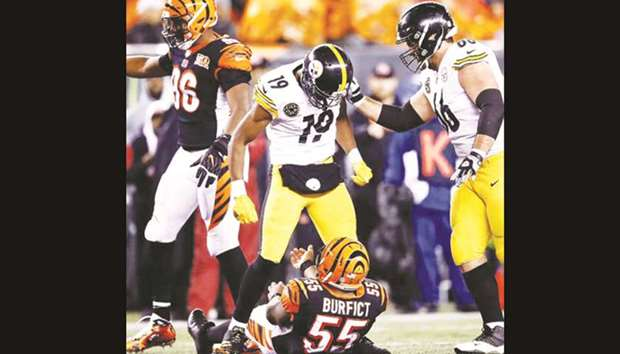 new product d2df1 7fa01 Smith-Schuster, Iloka banned one game over dangerous hits