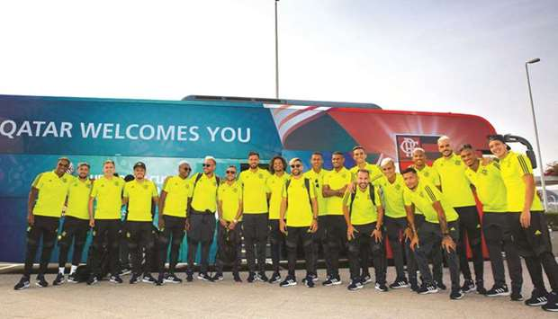 CR Flamengo landed in Doha yesterday ahead of their participation in the FIFA Club World Cup Qatar 2