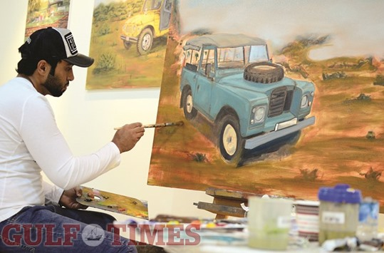 The solitary artist with magic brushstrokes