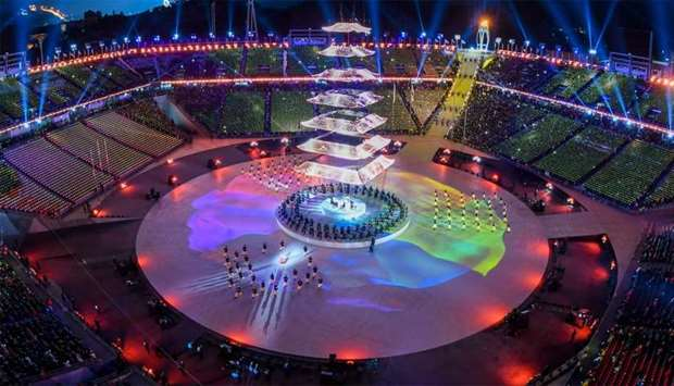 General view during the closing ceremony of the Pyeongchang 2018 Winter Olympic Games at the Pyeongc
