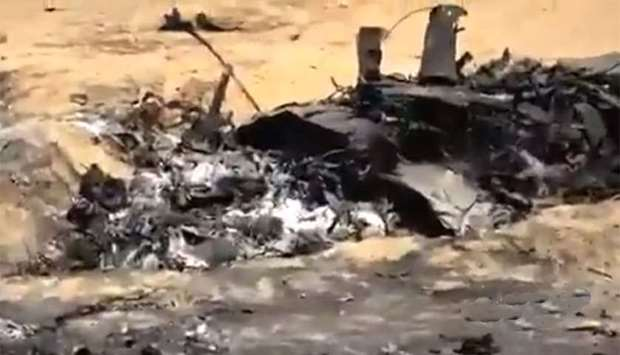 An image grab from a video posted on social media that purportedly shows the debris of  the Tornado