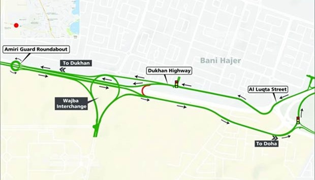 Dukhan Highway U-turn to be closed for 9 months
