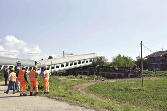 Two dead, 20 hurt after train smashes into truck in Italy