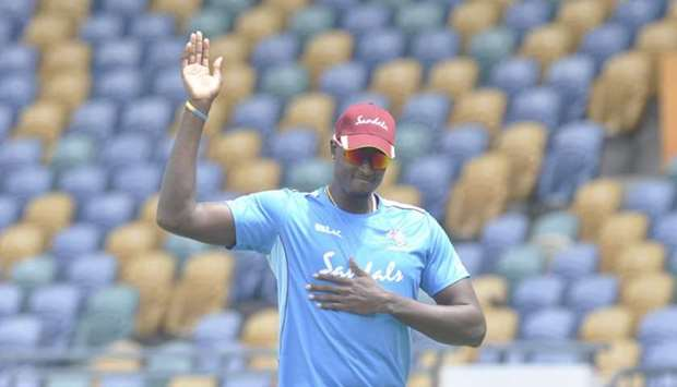 A number of West Indies players, including captain Jason Holder are already back in training. (West