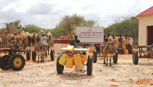 Qatar Charity water projects combat drought in Somalia - Gulf Times