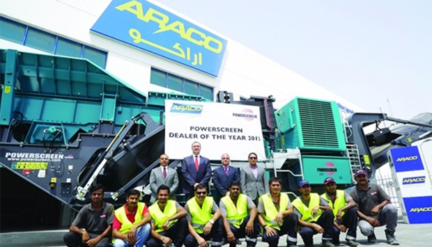 Araco wins Powerscreen Dealer of the Year 2015 award