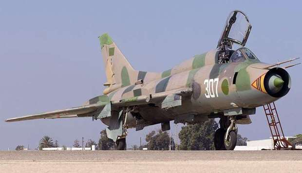A Libyan air force fighter plane