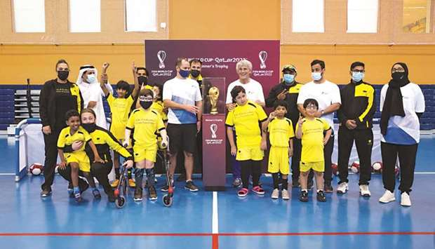 Youth in Qatar impressed by FIFA World Cup trophy