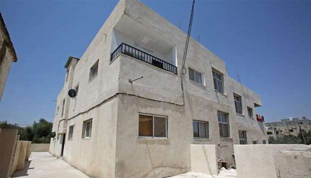 Building in the northern Jordanian town of Irbid where Syrian refugees are being housed