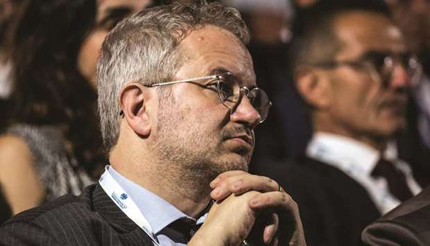 Italys league sees euro collapse without ecb bond guarantee claudio borghi economic adviser for the league listens during the annual meeting of the confcommercio retail association in rome on june 7 m4hsunfo