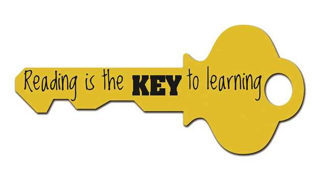Image result for reading is the key to learning