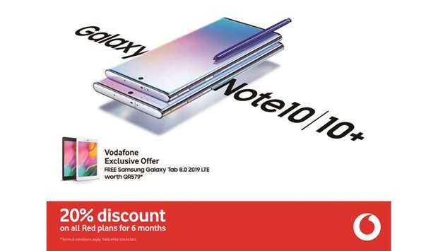 Samsung Galaxy Note10 goes on sale at select 'Vodafone Qatar