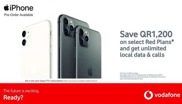 iPhone 11 available to pre,order from Vodafone from Friday
