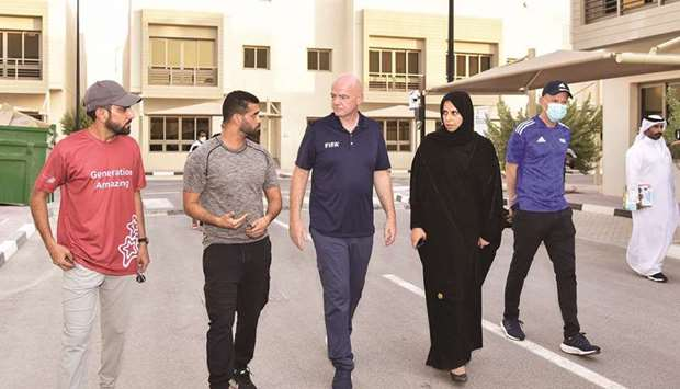Photo of Infantino thanks Qatar for welcoming Afghan evacuees | Gulf-Times