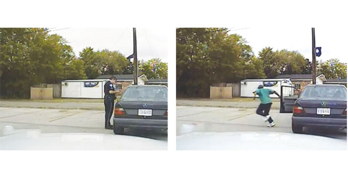 Police car video sheds light on moments before man is gunned down
