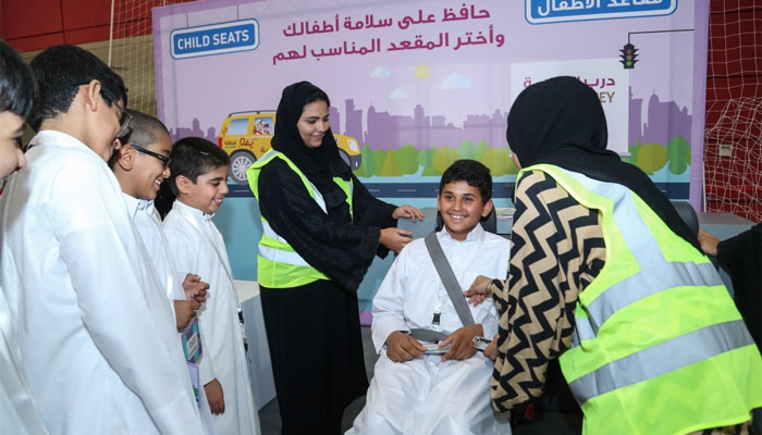 Students attending the road safety initiative