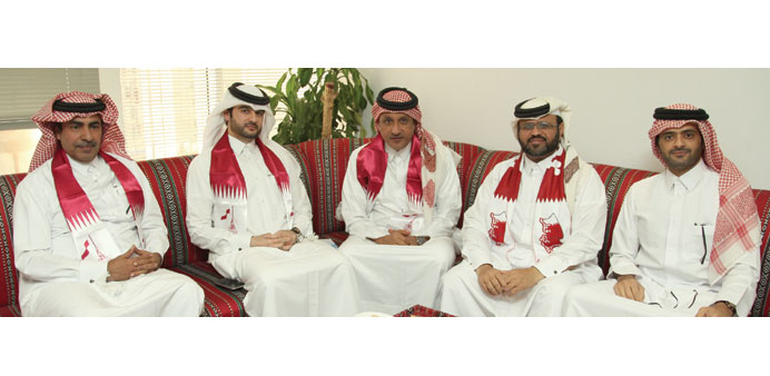 Elan Group officials take part in Qatar National Day celebrations.