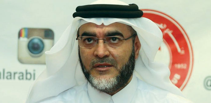 Al Arabi club Secretary General  Ahmed al-Emadi.
