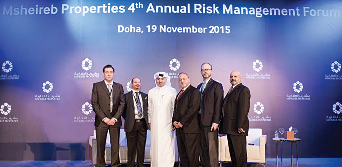 Speakers at the risk management forum.