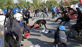 Ankara police, activists clash on bombing anniversary