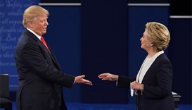 Trump, Clinton hit campaign trail after fiery debate