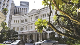 A general view shows the Raffles Hotel in Singapore yesterday.