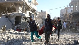 Aleppo hospital hit as Syria army presses assault