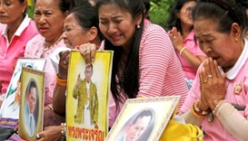 Anxious prayers for ailing Thai king outside hospital
