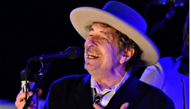US musician Bob Dylan performs during on day 2 of The Hop Festival in Paddock Wood, Kent on June 30t
