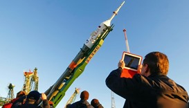Lifted on the launchpad ahead of its launch scheduled on October 19