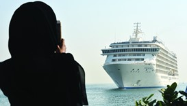 The World, the first of the 32 ships to dock at the Doha Port
