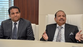 Yusuffali MA along with Mohamed Althaf, briefs about the expansion plans of the group in Qatar
