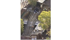 Emergency services personnel can be seen near the ride inside the Dreamworld theme park at Coomera o