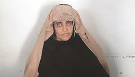 In this photograph released by Pakistan's Federal Investigation Agency yesterday, Afghan Sharbat Gul