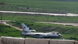 Syrian rebels bombard Aleppo air base