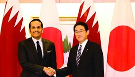 The Foreign Minister with his Japanese counterpart Fumio Kishida