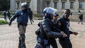 Violence escalates in South African student protest