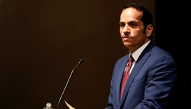 HE the Foreign Minister Mohammed Bin Abdulrahman Bin Jassim Al-Thani gives a lecture in Singapore