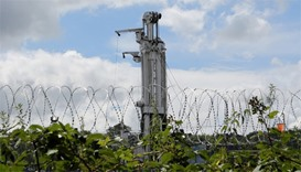 The Cuadrilla drilling site is seen in Balcombe