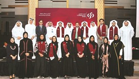 Commercial Bank recently honoured some 15 employees who successfully completed its two-year Graduate