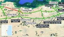 Part of Al Khor Coastal Road to be shut for 18 months
