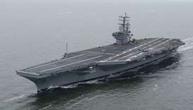 US Navy aircraft carrier, the Ronald Reagan