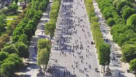 Paris experiments with 'car-free day' across the city
