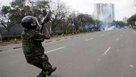 Kenyan opposition supporters defy protest ban