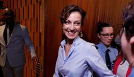 France's Audrey Azoulay, the newly-elected Director-General of the United Nations Educational, Scien